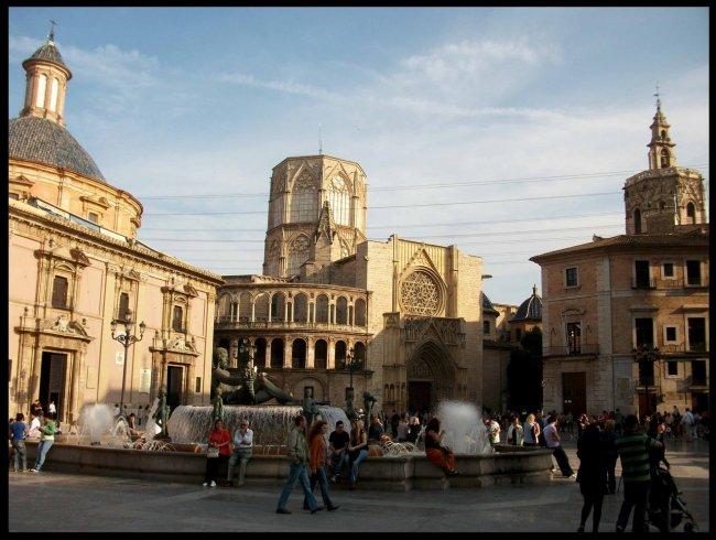 Площадь Святой Девы Марии развлечения валенсии Валенсия plaza de la virgen