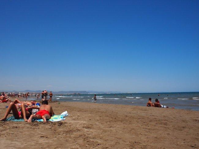Центральный пляж в Валенсии развлечения валенсии Валенсия valencia beach