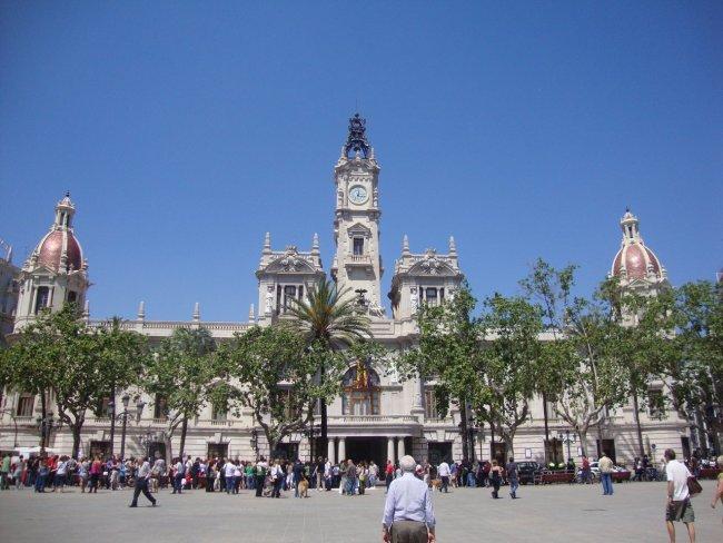 Здание муниципалитета развлечения валенсии Валенсия valencia municipalitet