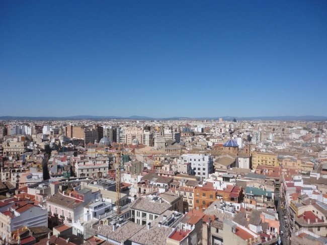 Вид на город развлечения валенсии Валенсия valencia view