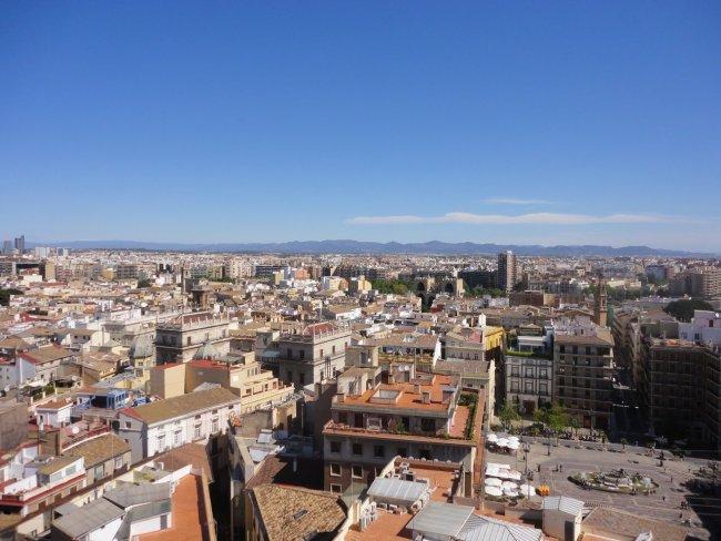 Вид на город развлечения валенсии Валенсия valencia view 01