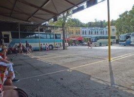 Междугородние автобусы на старом автовокзале