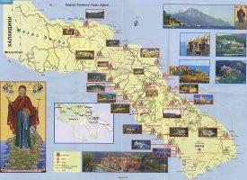 Карта с монастырями