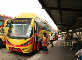 Автобус из аэропорта в центр Куала-Лумпура