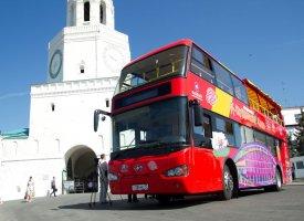 Двухэтажный автобус в Казани