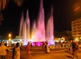 Светящийся фонтан в Салоу
