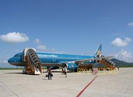 Самолет авиакомпании Vietnam Airlines, которая летает в Далат