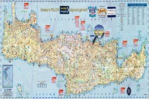 Карта Крита с отелями