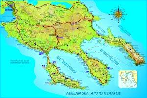 Подробная карта Халкидиков