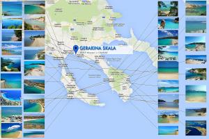 Карта Халкидиков с пляжами