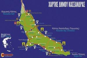 Карта полуострова Кассандра