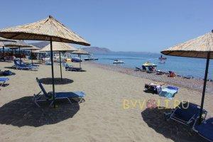 Пляж рядом с отелем Mitsis Rodos Maris