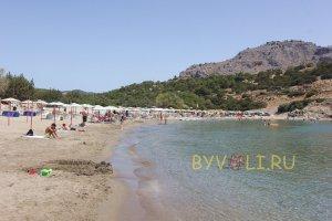 Пляж Глистра на Родосе